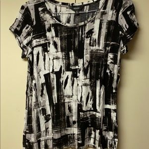 Simply Vera VeraWang Black & White Top. Size XL